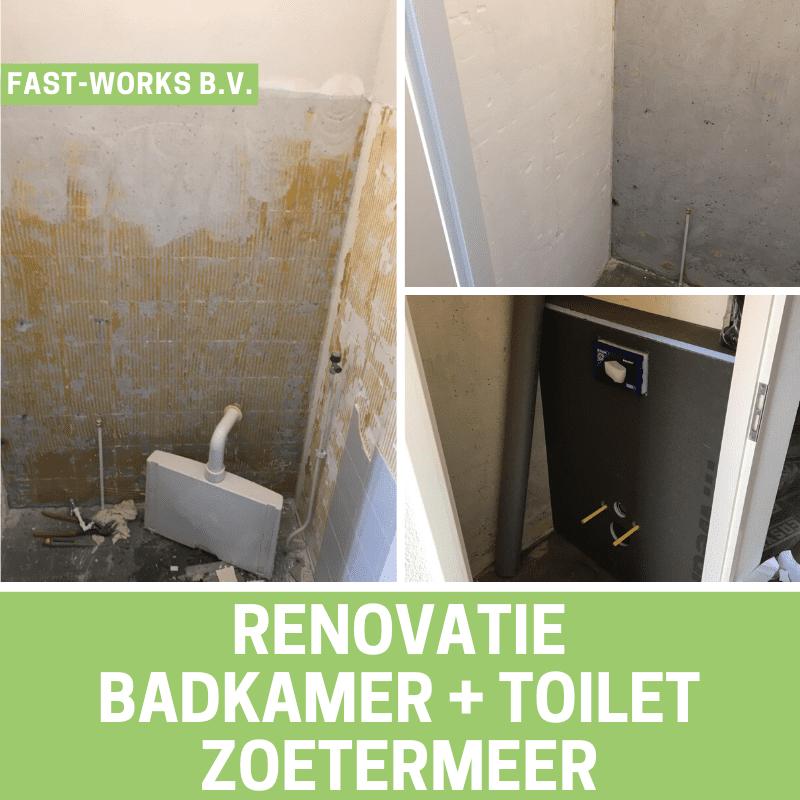 Renovatie badkamer + toilet Zoetermeer