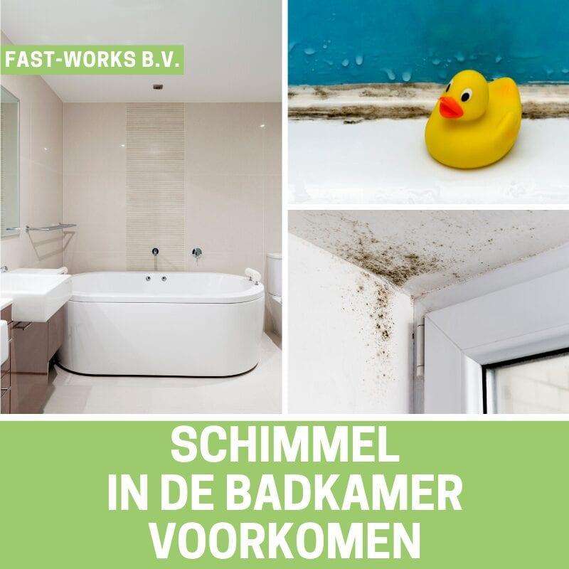 Schimmel in de badkamer voorkomen